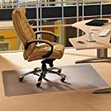 Office Premium Chair Mat 35''x47'' Carpet Protection Mat High & Medium Pile,Studded,Clear Retangle Shaped