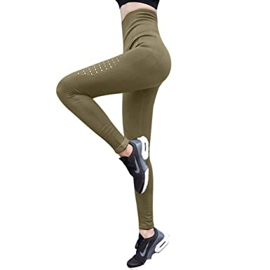 bd35dbf899ea4f No.66 TOWN Active Women's Workout Seamless Jacquard Athletic Exercise  Running High Waist Tummy Control