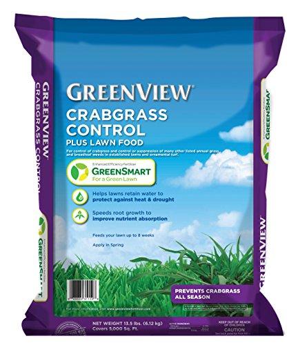 GreenView  Crabgrass Control Plus Lawn Food, 13.5 lb bag Covers 5000 sq. ft.