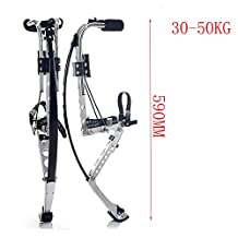 Kids/Child Youth Kangaroo Shoes Jumping Stilts Fitness Exercise Black 2 Size Opt