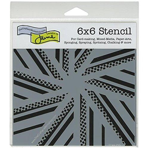 Crafter's Workshop Templates 6X6-Pinwheel