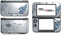 Monster Hunter 3 4G Tri Ultimate Silver Special Edition Video Game Vinyl Decal Skin Sticker Cover for the New Nintendo 3DS XL 2016 System Protector