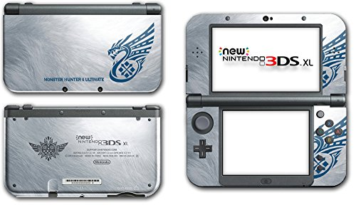 Monster Hunter 3 4G Tri Ultimate Silver Special Edition Video Game Vinyl Decal Skin Sticker Cover for the New Nintendo 3DS XL 2016 System Protector Console (Nintendo 3ds Xl Monster Hunter 4 Ultimate Edition)