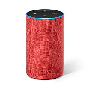 amazon com echo 2nd generation smart speaker with alexa red