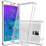 Galaxy Note 4 Clear Case With HD Screen Protector, AnoKe [Scratch Resistant] Acrylic Hard Cover With Rubber TPU Bumper Hybrid Ultra Slim Protective For Samsung Galaxy Note 4 -TM Crystal Clear