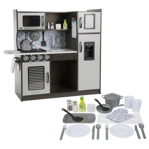 Melissa & Doug Chef's Play Kitchen & Bonus Accessory Set - Charcoal -