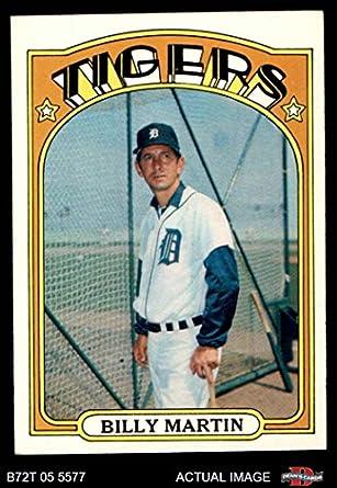 Amazoncom 1972 Topps 33 Billy Martin Detroit Tigers