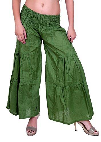 Sarjana Handicrafts - Pantalón - para mujer Verde