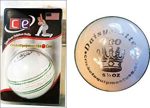CE T20 Daisy Cutter Leather Cricket ball by Cricket Equipment USA 2016 (White) by CE