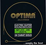 Optima 24 K Gold Plated Electric Guitar Strings .010-.046