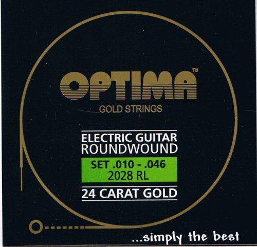 (Optima 24 K Gold Plated Electric Guitar Strings)