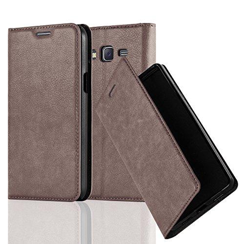Cadorabo - Funda Book Style Cuero Sintético en Diseño Libro Samsung Galaxy J5 (5) (Modelo 2015)