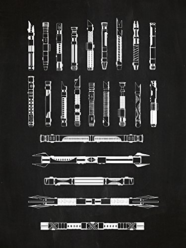 Star Wars Assorted Design Patent Art Poster 18 x 24 inch Sil