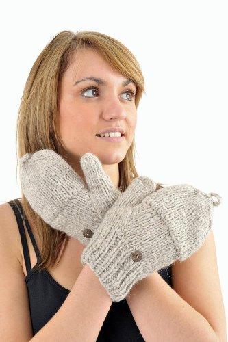 - Gants 100% laine douce nepalaise doubles polaires +10 couleurs - Femme