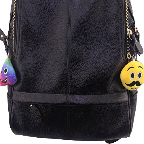 Swity Home 36 Pack Mini Emoji Plush Toy, Emoticon Toy, Mini Keychain Decorations, For Party Decoration, Party Supplies Favors, Set of 36 by Swity Home (Image #6)