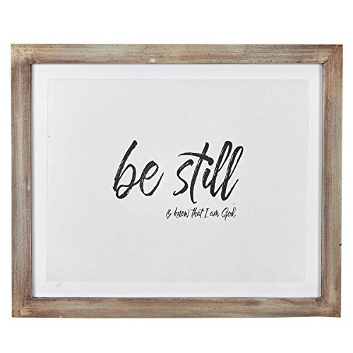 Christian Art Gifts Wall Plaque: Be Still