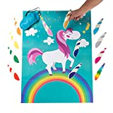 Toys : MISS FANTASY Pin the Horn on the Unicorn Birthday Party Favor Games Kids Party Supplies Unicorn Gifts for Girls Game Include a Large Poster 24 Reusable Sticker Horns Good for Big Parties