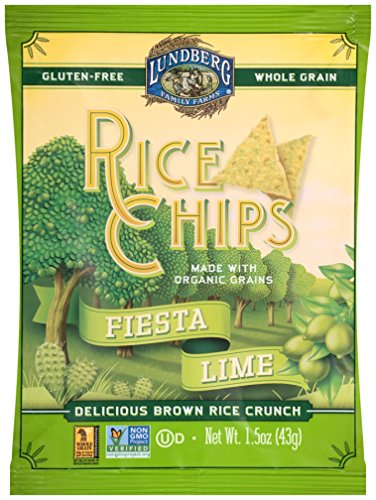 Lundberg Family Farms Rice Chips, Fiesta Lime, 1.5 Ounce (Pack of (Fiesta Rice)