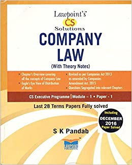 Buy Lawpoint's CS Solutions Company Law Book Online at Low Prices in