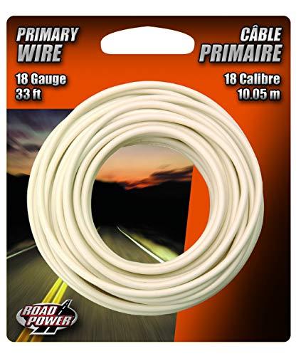 Coleman Cable 18-1-17 18-Gauge 33-Foot Automotive Copper Wire, White