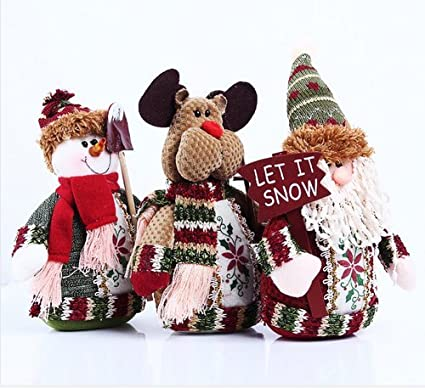 table decoration snowman moose santa claus interior design lovely christmas decorations