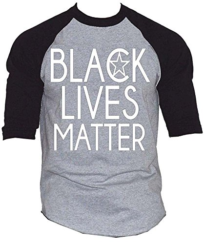 Black Lives Matter Civil Rights Baseball T-Shirt Black/Gray S-3XL (XL, Black/Gray)