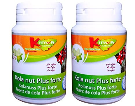 KinwaNatura Nuez de cola Plus forte (con guaraná) 2X60 ...