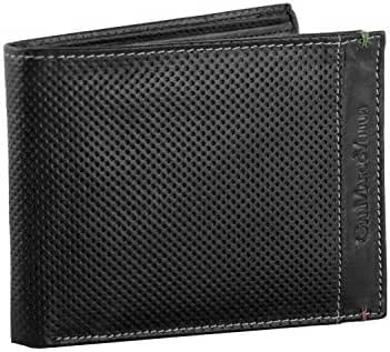 Wallet man GIANMARCO VENTURI black in leather with coin purse VA340