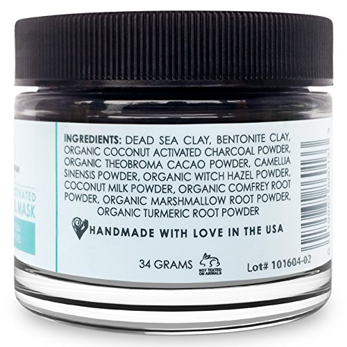 Bentonite Clay And Activated Charcoal Face Mask: Activated Charcoal With Dead Sea Mud Clay Powder Face Mask