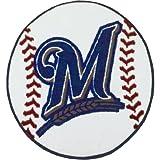 """Fan Mats Milwaukee Brewers Baseball Rug, 29"""" Dia."""
