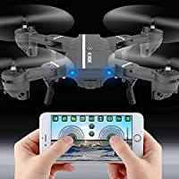 Hanbaili Wifi Foldable Drone with 720P HD Camrea Live Video,Quadcopter Toys for kids,Altitude Hold Helicopter for Beginners