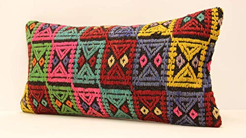 Sofa Aztec Pillow Boho Kilim Lumbar Vintage Kilim Pillow Turkey Pillow Decorative Throw Pillow Cushion Cover 20x20 Pillow Cover