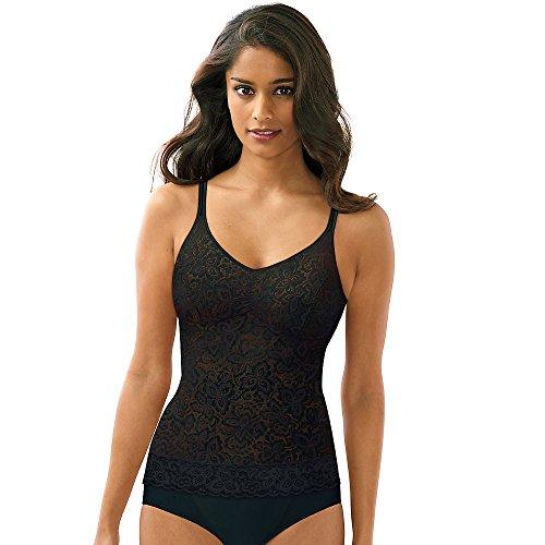- Bali Women's Shapewear Lace 'N Smooth Cami, Black, Medium