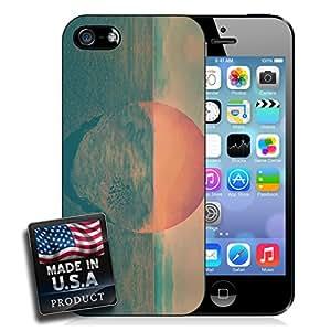 Beach Sea Ocean Sunset Hipster Painting iPhone 4/4s Hard Case