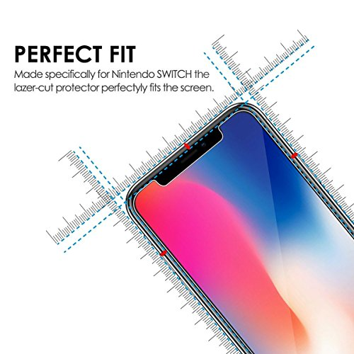 Large Product Image of Besprotek Screen Protector for iPhone X, (2 Pack) iPhone X Tempered Glass Screen Protectors for iPhone X 2017 Work with Most case 99% Touch Accurate