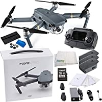 DJI Mavic Pro Collapsible Quadcopter Drone Ultimate Videographer Bundle w/ Manufacturers Accessories PLUS 2 Intelligent Flight Batteries, SSE DJI Mavic Filter Kit + More