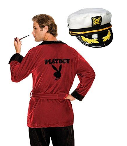 BirthdayExpress Playboy Hugh HEFNER Robe and Captain Hat Adult Costume Kit - Standard -