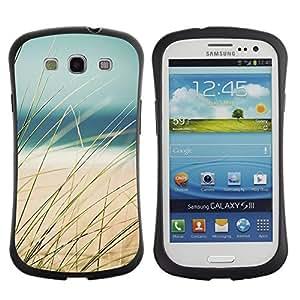"""Pulsar iFace Series Tpu silicona Carcasa Funda Case para SAMSUNG Galaxy S3 III / i9300 / i747 , Hierba de la playa Mar de Arena Summer View"""""""