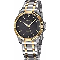 Fq-005 Classic Style Gold Stainless Steel Men's Wrist Watches with Crystals For Man,Father's Day Gifts