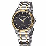 Fq-005 Classic Style Silver Golden Stainless Steel Mens Wrist Watches with Crystals For Man Black