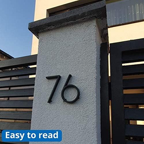 Color : Black, Size : 5 SR-CN N/úmeros de buz/ón 10cm 3D moderno de la casa de la puerta n/úmero Domicilio for la muestra de la puerta exterior Casa Digital 4 pulgadas.