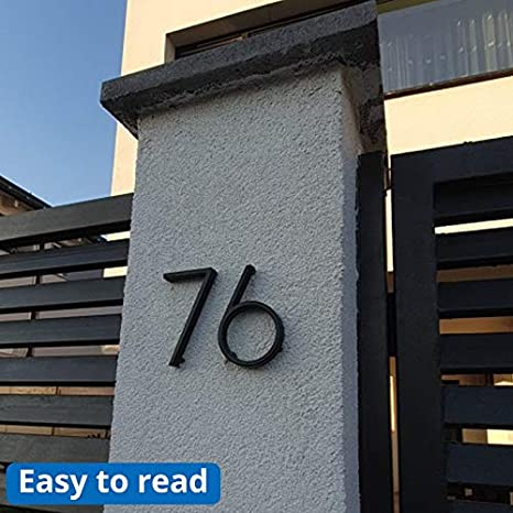 Color : 7 SR-CN 12cm grande 3D moderno de la casa de la puerta n/úmero Home n/úmeros de direcci/ón for la puerta exterior N/úmero C/ámara Digital Sign Placas de 5 pulgadas.0-9 Negro
