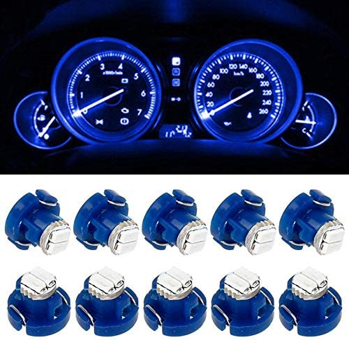 10x Blue T4.7//T5 Neo Wedge LED Bulb  Dash Climate Control Instrument Base Light
