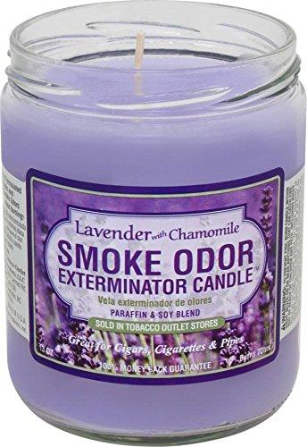 Odor Exterminator Candle (Smoke Odor Exterminator 13oz Jar Candle, Lavender Chamomile)