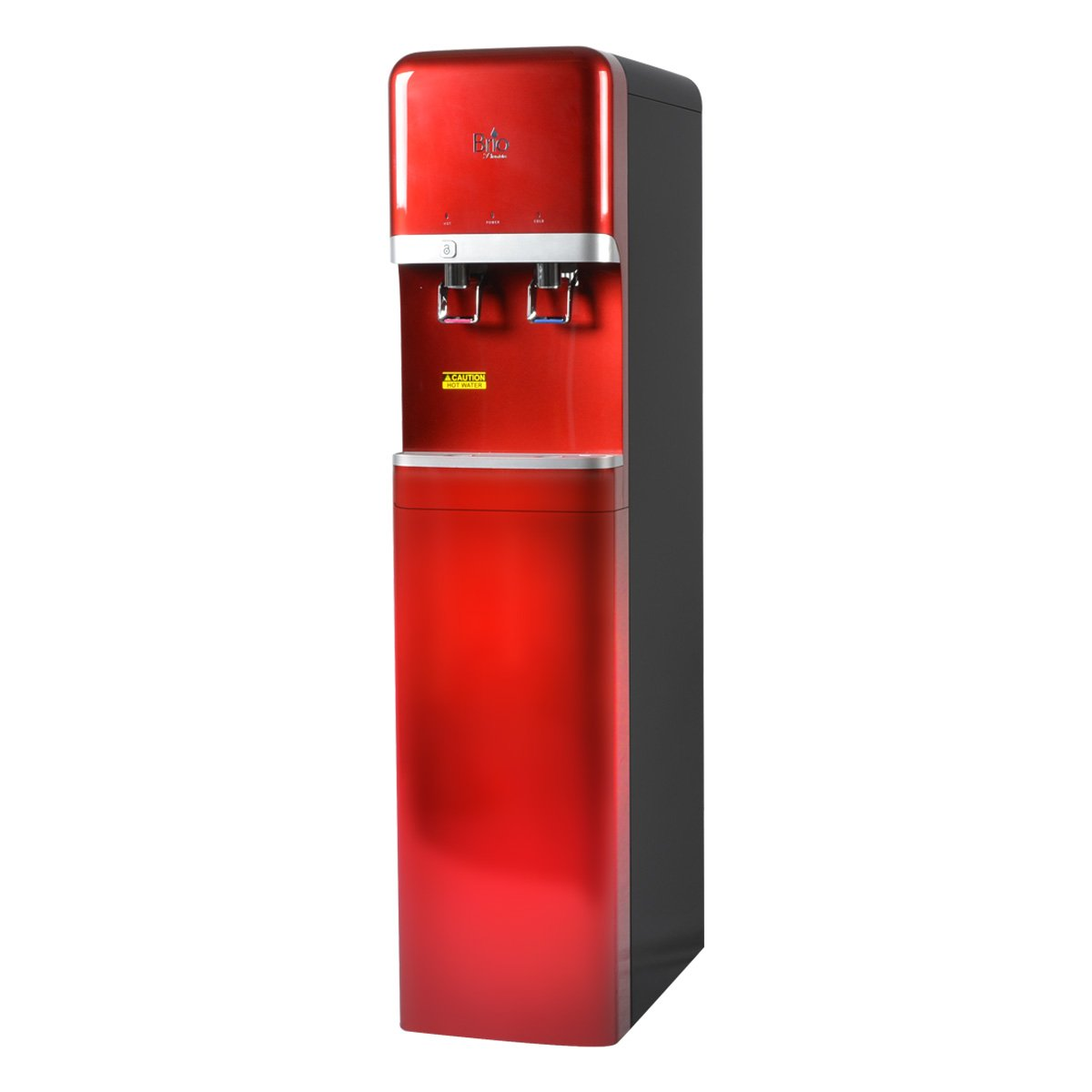 Brio Premiere Bottleless POU Hot and Cold Commercial Water Dispenser - Red