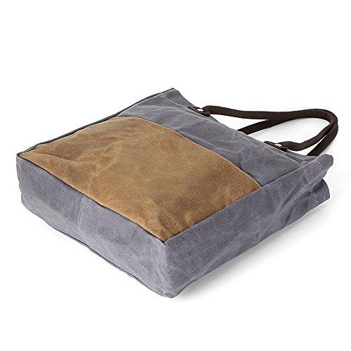 étanche à bandoulière cire huile loisirs sac provisions Direction couleur sac ArmyGreen DIUDIU rétro tissu à hit portable à main toile tissu sac qtazwUYx