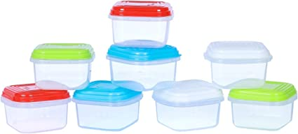 2 x Baby Weaning Food Freezing Cubes Pots Freezer Storage Containers BPA Free