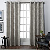108 curtain panels pair - Exclusive Home Curtains Finesse Grommet Top Window Curtain Panel Pair, Natural, 54x108