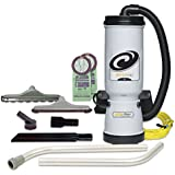 ProTeam Commercial Backpack Vacuum, MegaVac Vacuum Backpack with Blower Tool, Felt and Horse Hair Hard Surface Tool Kit, 10 Quart, Corded