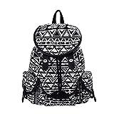 Douguyan Canvas Backpack Lightweight Vintage Print School Bag for Girl Women 125 black Review